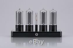 ZIN18 IN18 Nixie Tube Clock Black Aluminium Case WIFI Android/Iphone Skeleton
