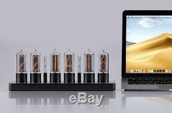 ZIN18 New Nixie Tube Clock Black Aluminium Case WIFI Android/Iphone Skeleton