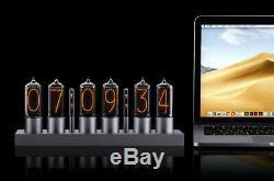 ZIN18 New Nixie Tube Clock Silver Aluminium Case WIFI Android/Iphone Setup