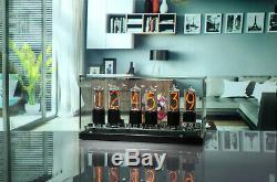 ZIN18 Nixie Tube Clock Black Aluminium Base Bigger than IN-18 15 Years Warranty