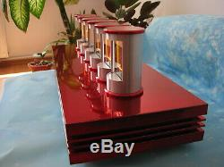 ZM1350 Nixie tubes by Telefunken in Candy Ferrari Nixie Clock by Monjibox
